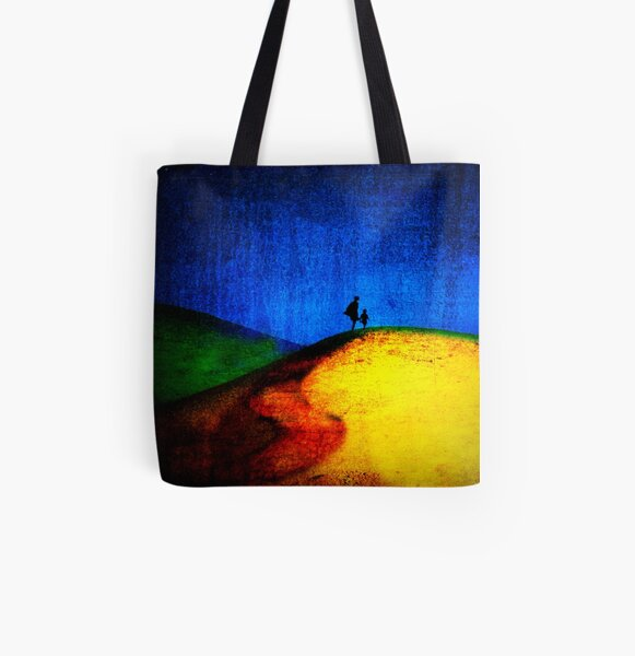 Hand In Hand All Over Print Tote Bag