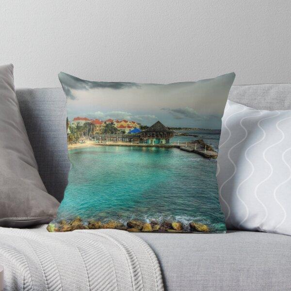 Avila Beach - Curacao Throw Pillow