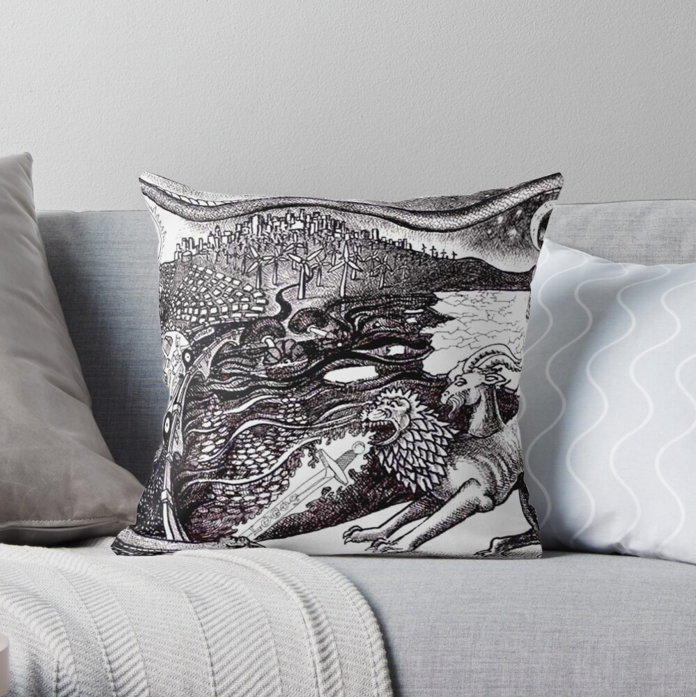 2008 Alternative Energy and the Chimera Throw Pillow
