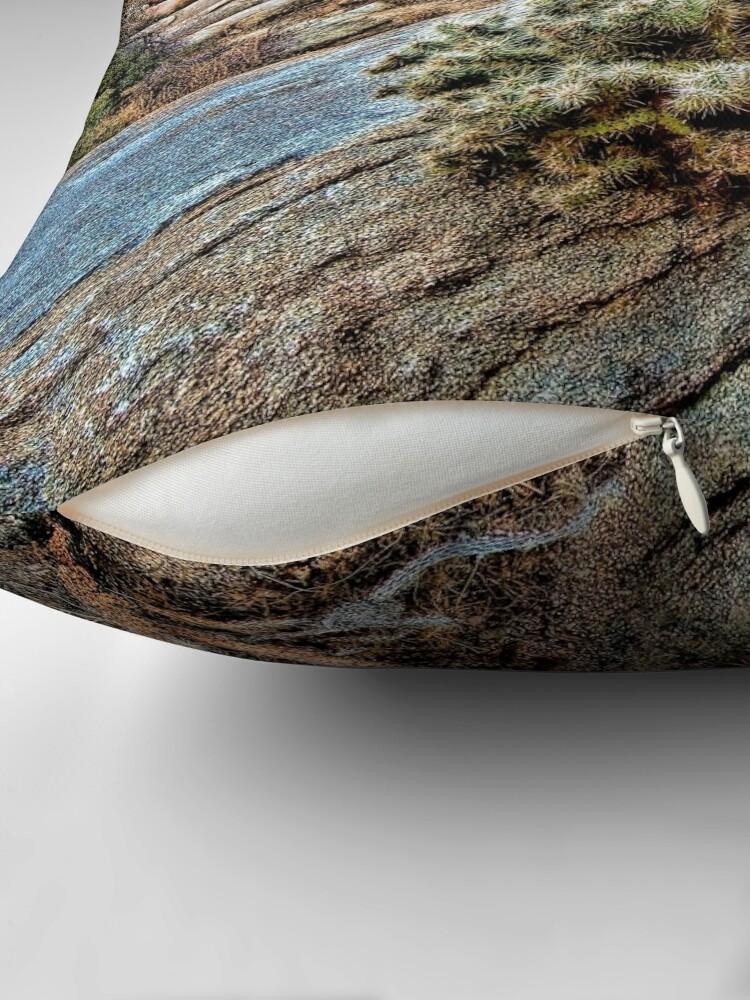 Alternate view of Joshua Tree on the Rocks Throw Pillow