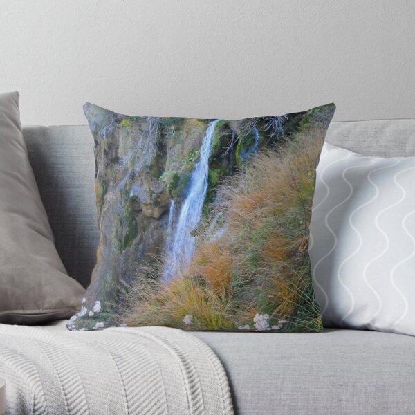 ROMANCE OF LITTLE WATERFALL Throw Pillow