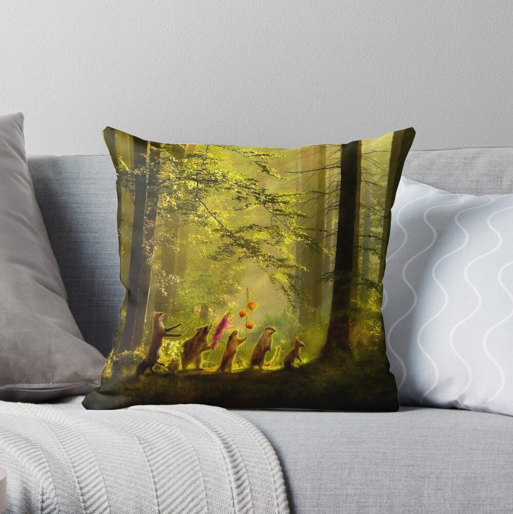 The Secret Parade II Throw Pillow