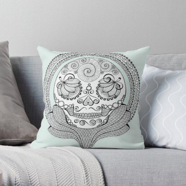Trophy Skull Throw Pillow