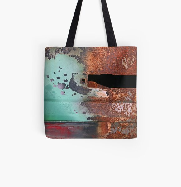 Red Green & Rust All Over Print Tote Bag