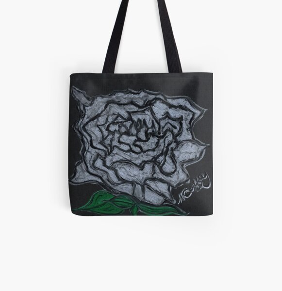 WHITE ROSE All Over Print Tote Bag
