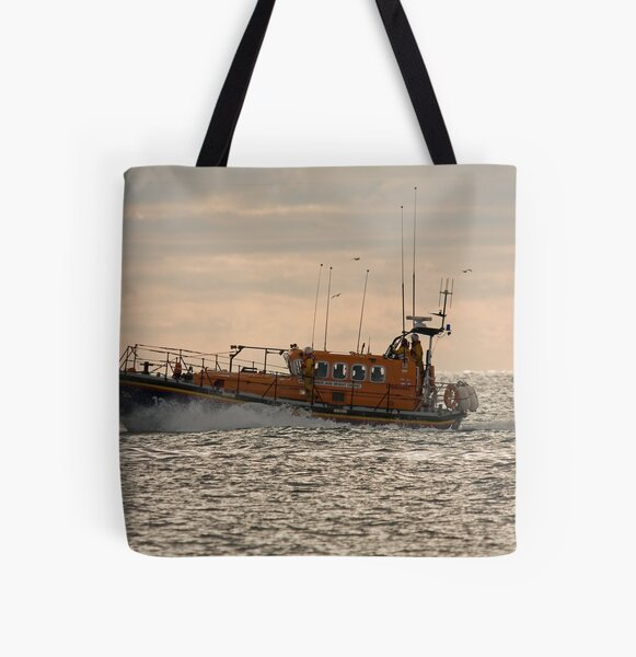 The Newcastle (county Down) Lifeboat All Over Print Tote Bag