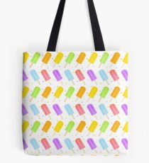 Tasty Summer Watercolour Popsicle Pattern Tote Bag