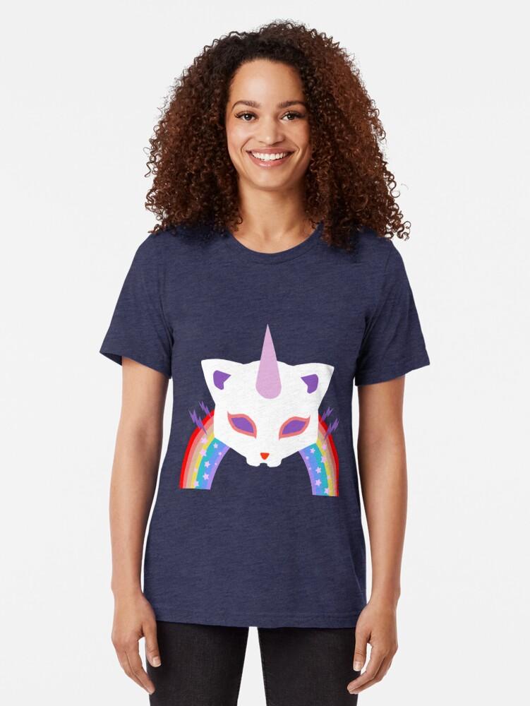 Alternative Ansicht von Kitty Abschnitt Rainbow Miraculous Ladybug Vintage T-Shirt
