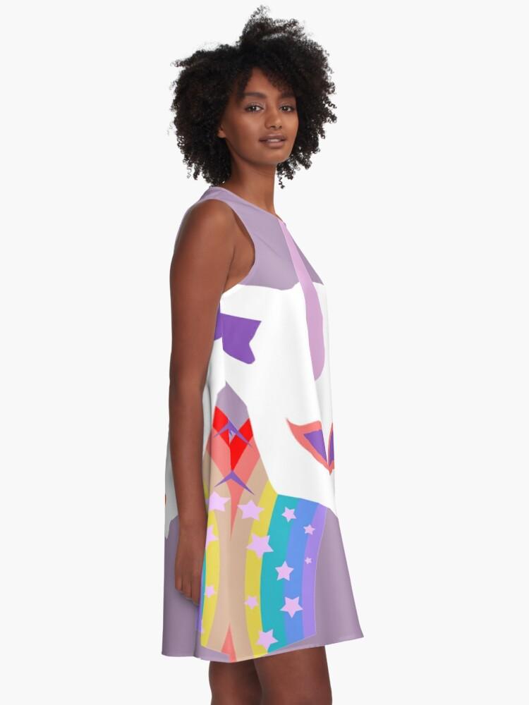 Alternative Ansicht von Kitty Abschnitt Rainbow Miraculous Ladybug A-Linien Kleid