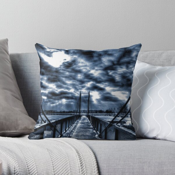 Mystery Bridge Throw Pillow