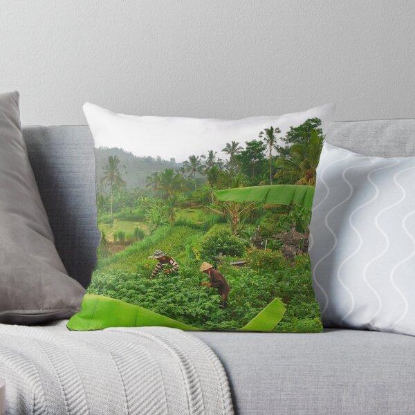 The green heart of Bali Throw Pillow