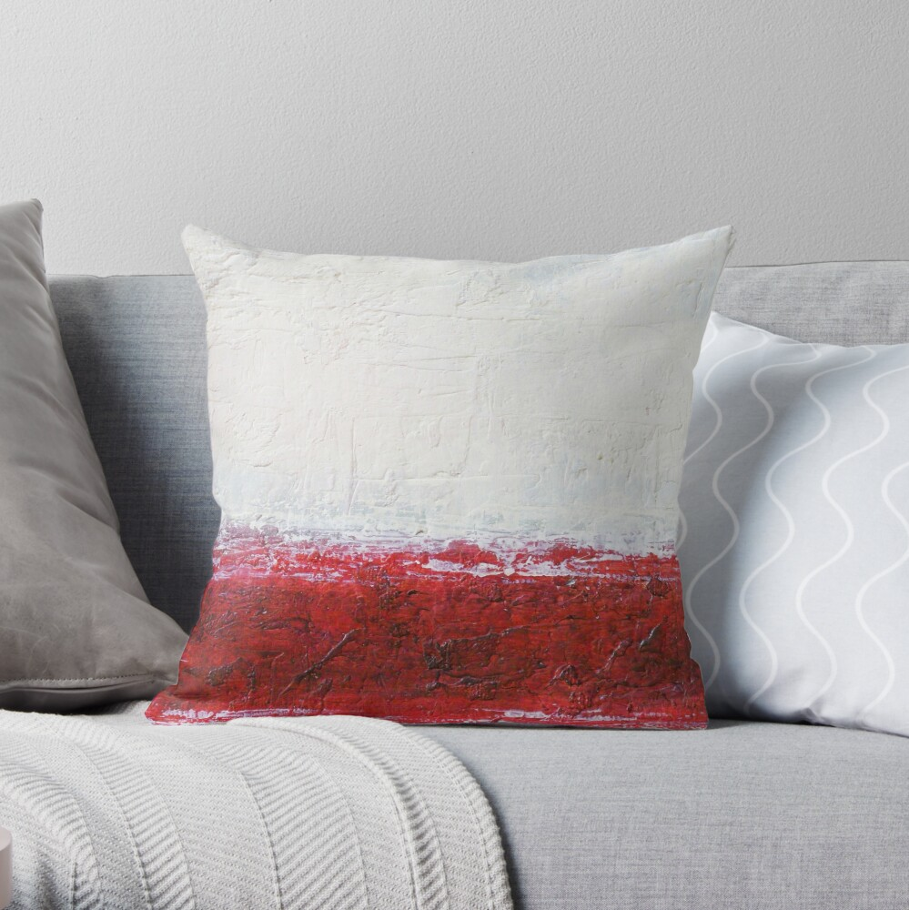 Simply Red 1 Throw Pillow By Marcosivieri Redbubble