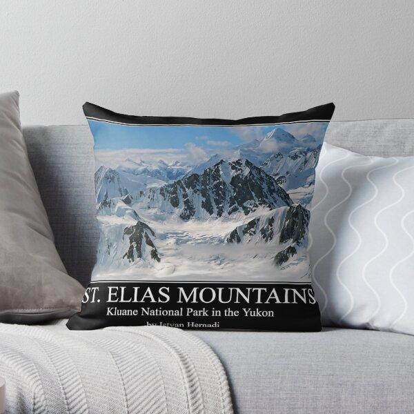 St Elias mountains poster Throw Pillow