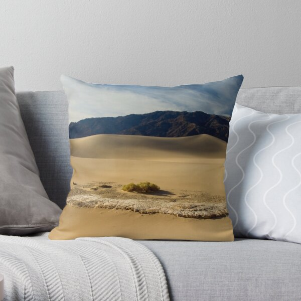 Morning on Stovepipe Wells Dunes Throw Pillow