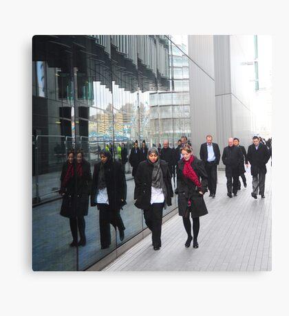 Street Reflections: Southbank London Canvas Print