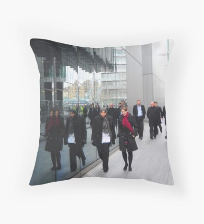 Street Reflections: Southbank London Throw Pillow