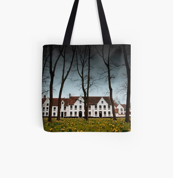Beguinage Bruges All Over Print Tote Bag