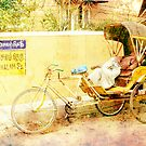 Indian taxi at rest by Michel Raj