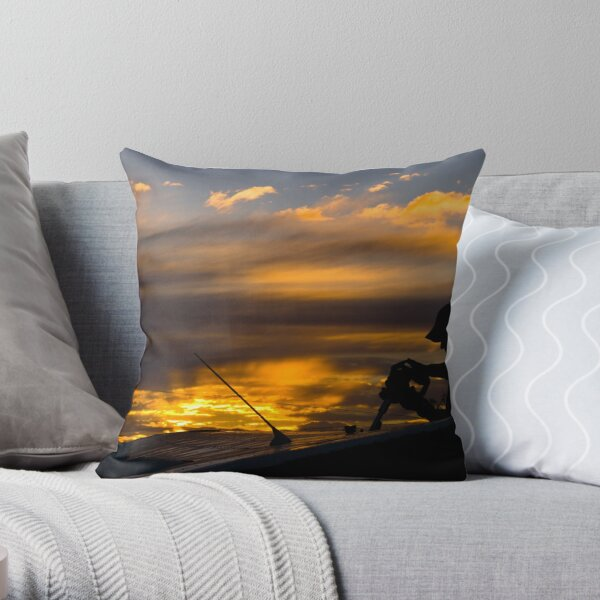 IEF Gets a drink Throw Pillow
