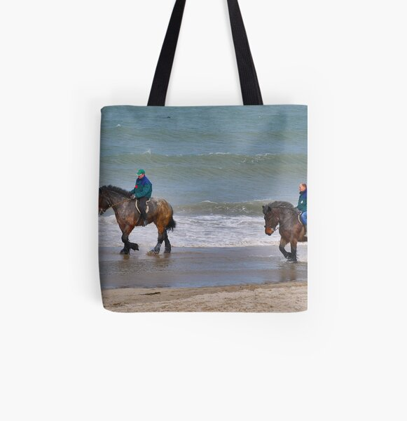 Straô horses in the North Sea All Over Print Tote Bag