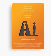 Artificial Intelligence vs. Adobe Illustrator Canvas Print