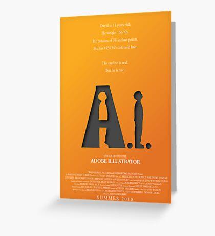Artificial Intelligence vs. Adobe Illustrator Greeting Card