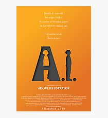 Artificial Intelligence vs. Adobe Illustrator Photographic Print