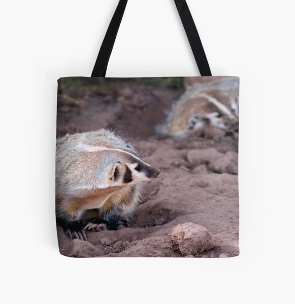 American badger -  Bear Country USA All Over Print Tote Bag