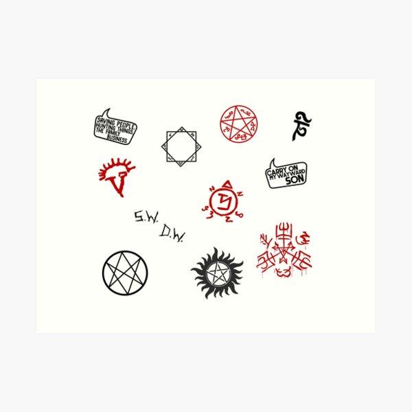 Supernatural Sigils and Symbols Art Print