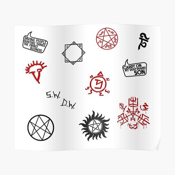 Supernatural Sigils and Symbols Poster