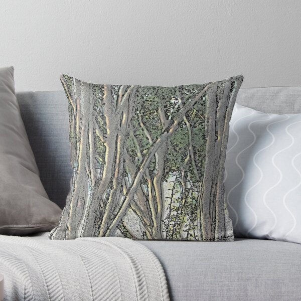 Light in the Crepe Myrtles Throw Pillow