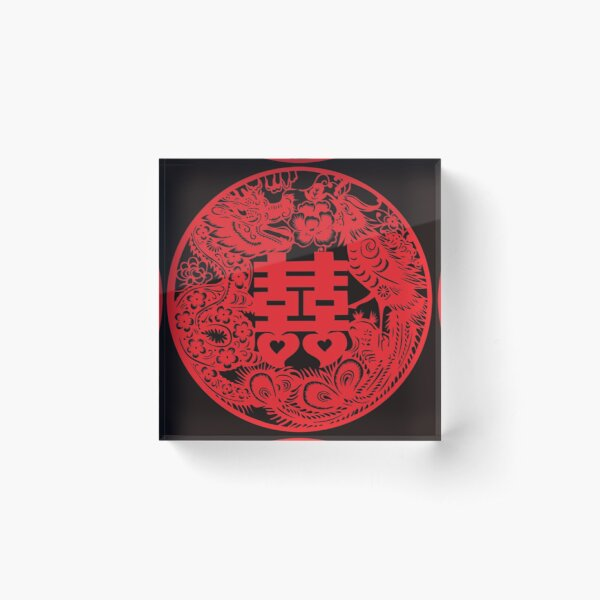 chinese double happiness Acrylic Block