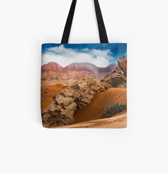 Camel Rock, Fujairah All Over Print Tote Bag