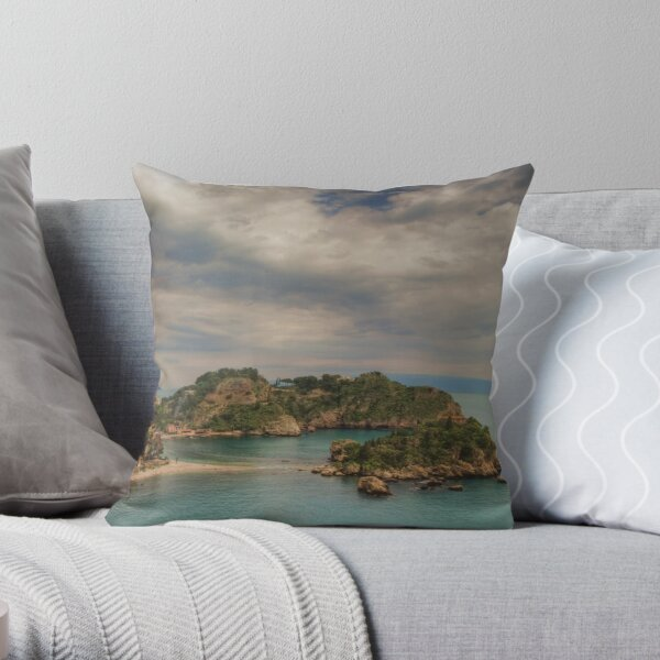 Panoramic view of Isola Bella Throw Pillow