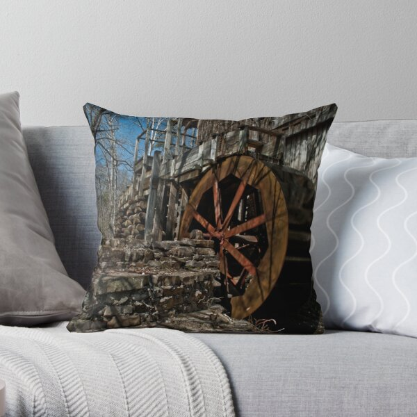 The John Wesley Hall Grist Mill Throw Pillow