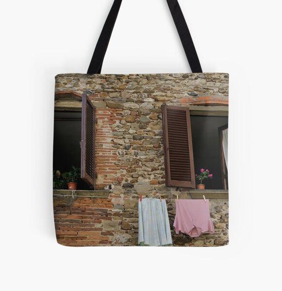 Italian Windows All Over Print Tote Bag