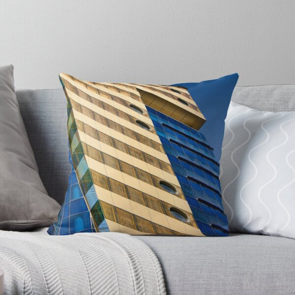 Bharain Blues Throw Pillow