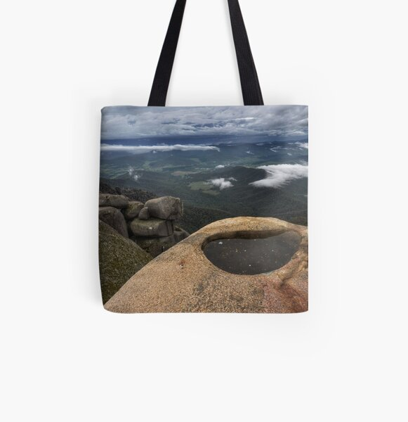 Alpine Rock Pool All Over Print Tote Bag
