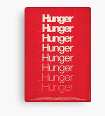 'Hunger' film poster Canvas Print