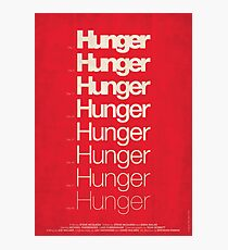 'Hunger' film poster Photographic Print