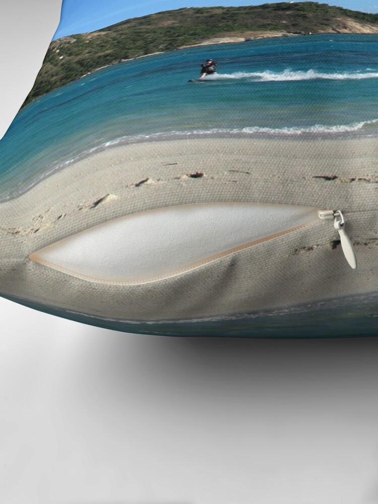 Alternate view of Lynita's Lagoon Throw Pillow