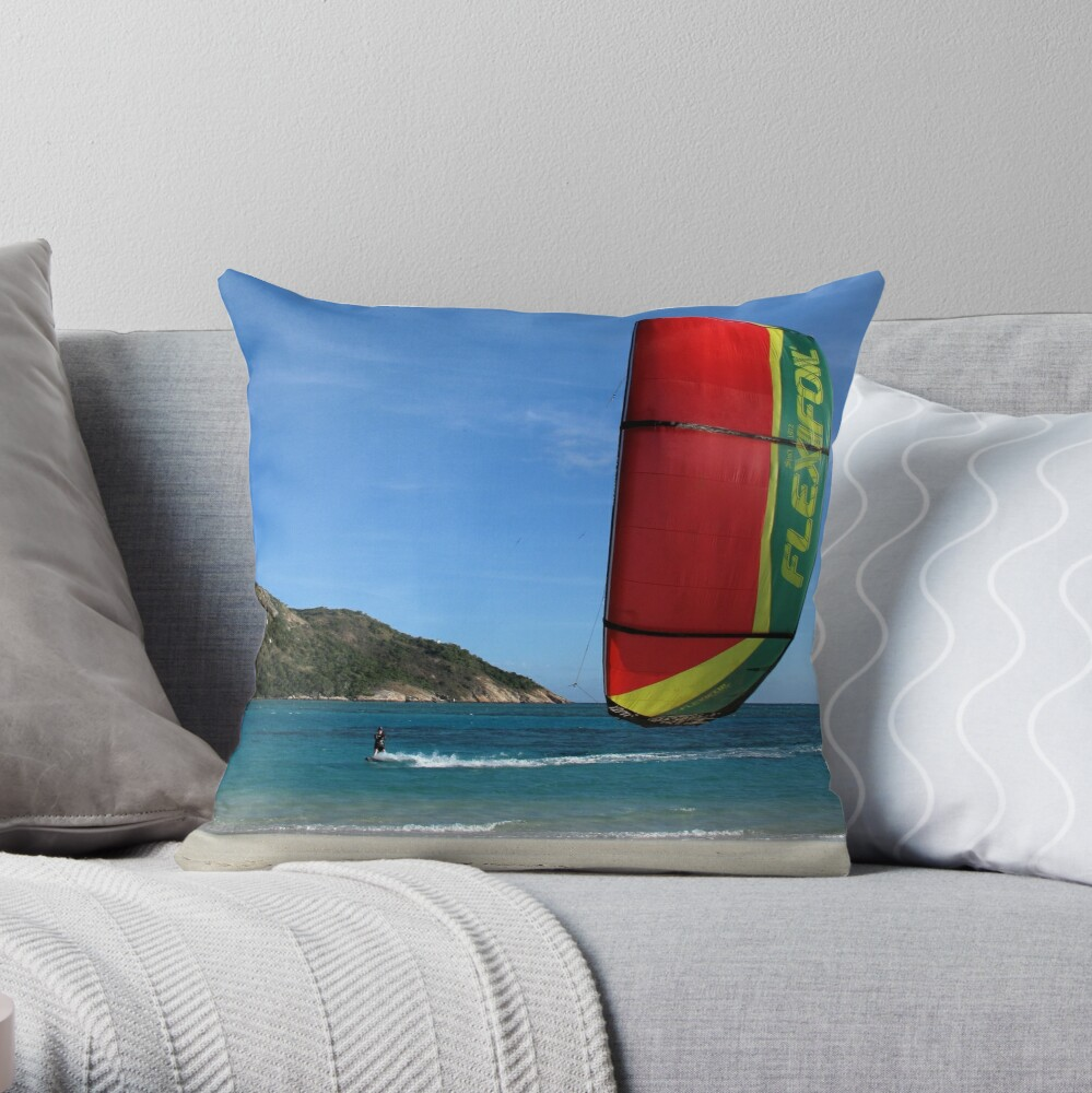 Lynita's Lagoon Throw Pillow
