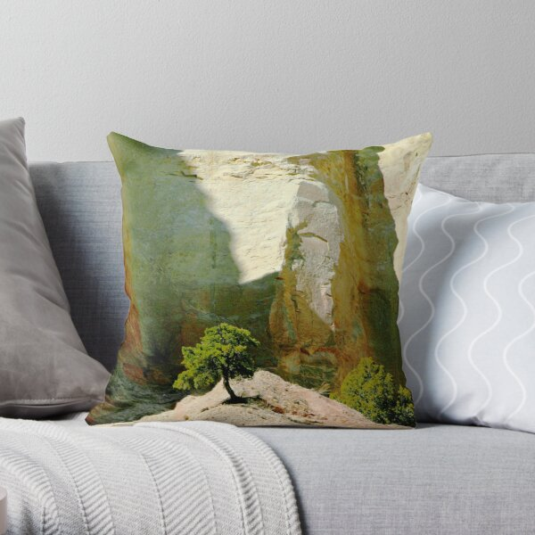 tree in the light of wonderful photo by CheyAnne Sexton Throw Pillow
