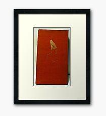 gilt cover antique book Framed Print