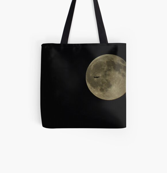Moon Flyby All Over Print Tote Bag