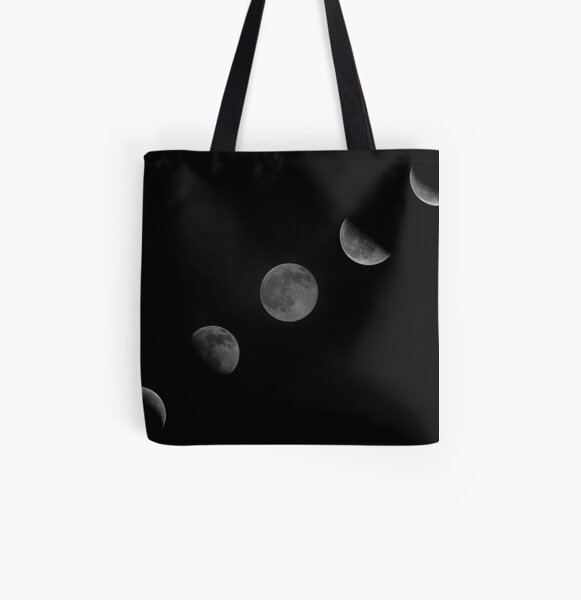 October Moon Cycle All Over Print Tote Bag