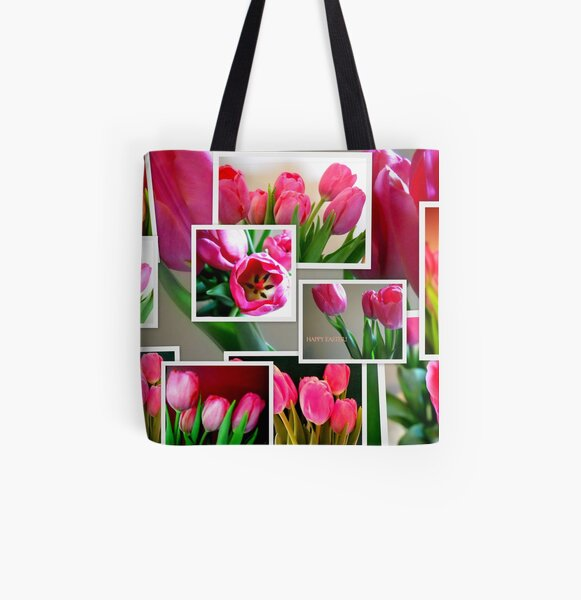 Tulips Collage All Over Print Tote Bag