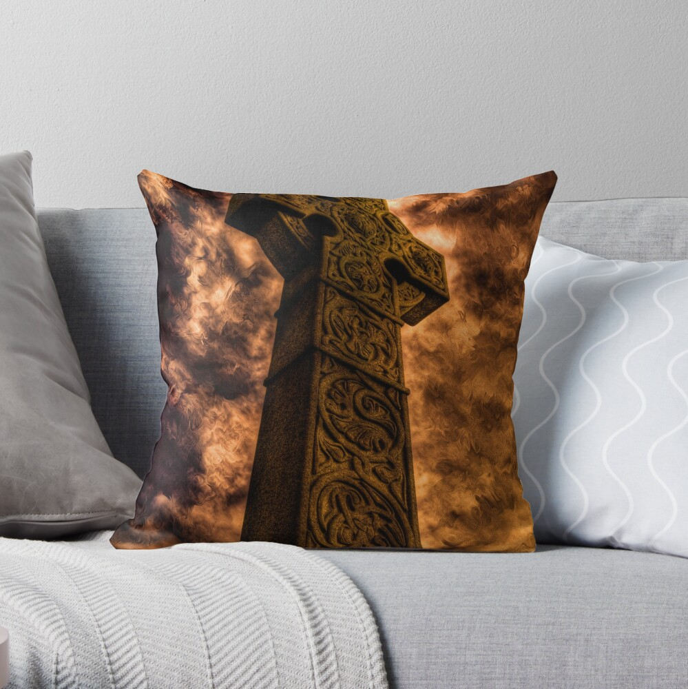 Fire and Brimstone Throw Pillow