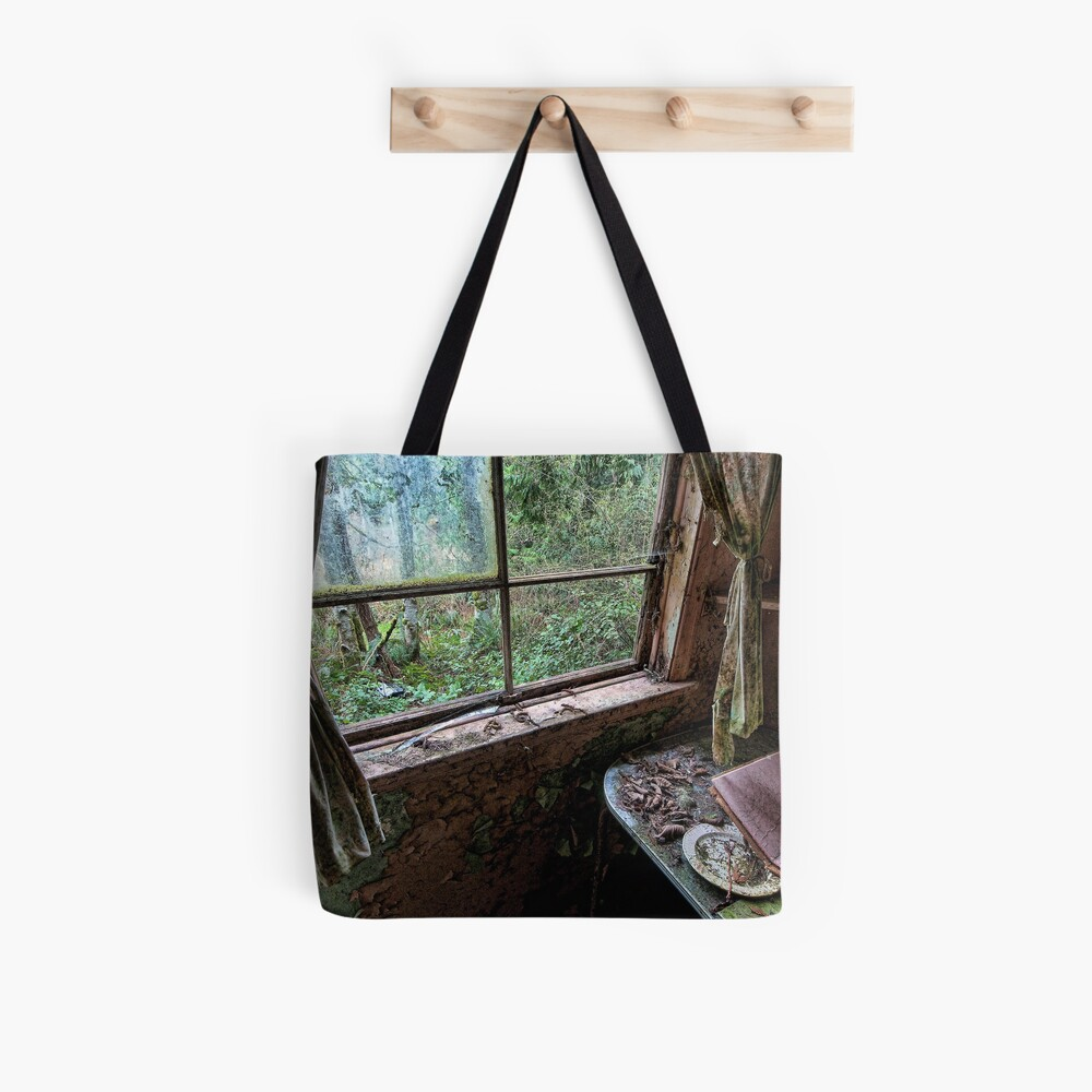 Shack in the Woods, Window Tote Bag