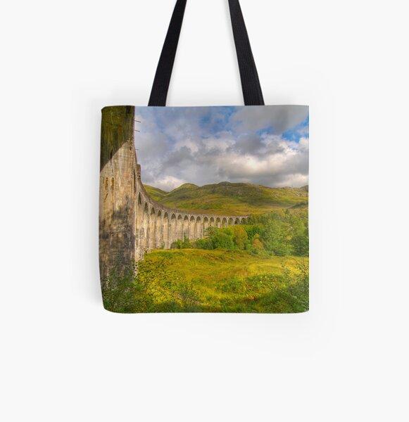 Glenfinnan Viaduct All Over Print Tote Bag